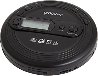 Groov-e Personal MP3 & Radio CD Player with Track Programmable Memory, LCD Display and Earphones Included - Black