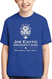 Tiger King Joe Exotic for President Election 2020 Governor Short Sleeve T Shirts Summer Tops Tee for Boys Fashion Youth