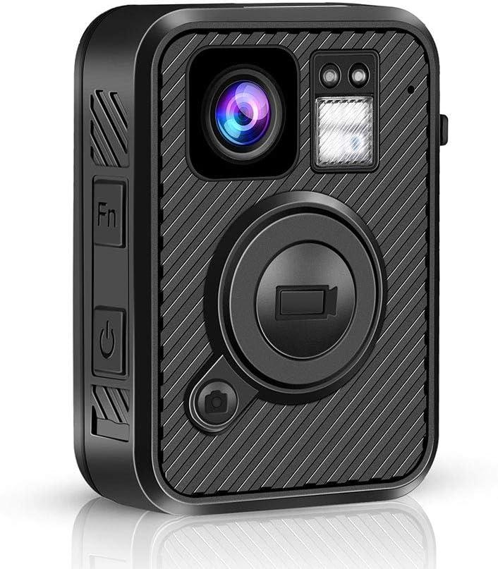 BOBLOV F1 2K 1440P Body Mounted Camera 64G WiFi Version GPS 8-10H Recording Body Worn Cam .66 inch LCD Screen Big Button for Recording