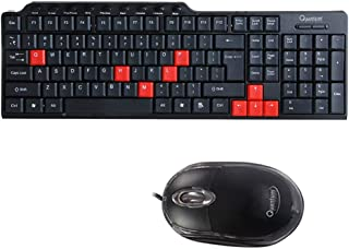 QUANTAM QHM8810 Multimedia Wired Keyboard   Mouse Combo