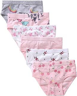 The Kite Girls' Soft Cotton Underwear Kids Assorted Briefs 6-Pack