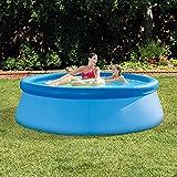 qwqqaq Extra Grande Piscina Hinchable para Niños Adultos,Redondo Espesar PVC Swim Center,Portatil Piscinas Infantiles Piscina Inflable Familiar con Depuradora Q 244x76cm(96x30inch)