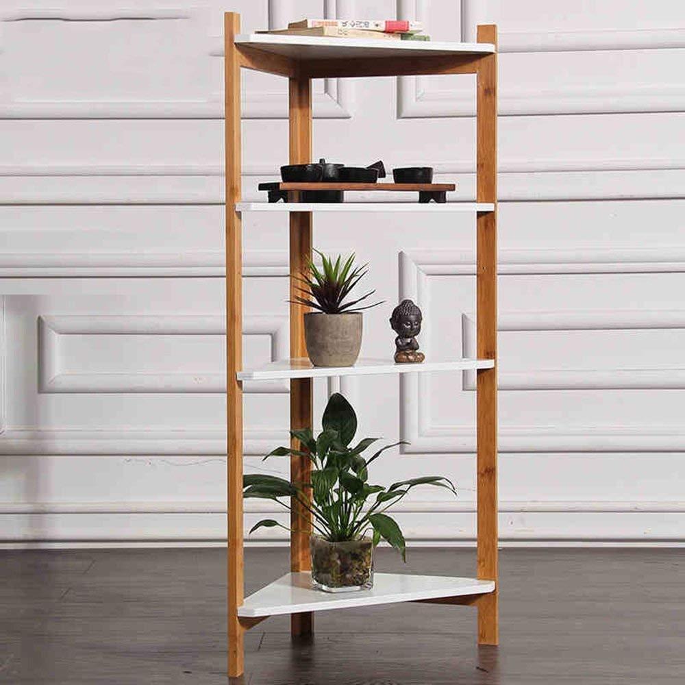 MDD Estantería Estantería de bambú Estantería de esquina Estantería de esquina Sala de estar, cocina, baño, estante de ducha Ahorro de espacio y fácil de instalar: Amazon.es: Bricolaje y herramientas