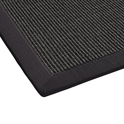 BODENMEISTER Sisal-Teppich modern hochwertige Bordüre Flachgewebe, verschiedene Farben und Größen, Variante: grau anthrazit, 160x230