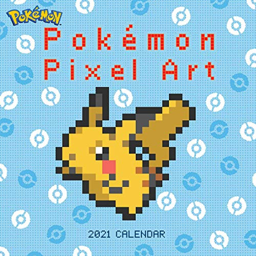 Pokemon Pixel Art 2021 Wall Calendar