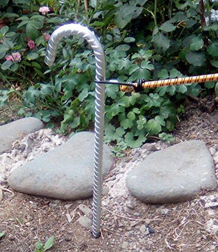 Tentharingen (Ø: 10 mm) 38 cm lang, extreem stabiel, grondankers, grondpennen en bouwanker.