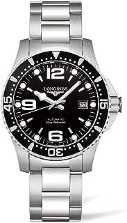 Reloj Longines HydroConquest, automático, de acero, esfera color negro, correa de acero - L37424566