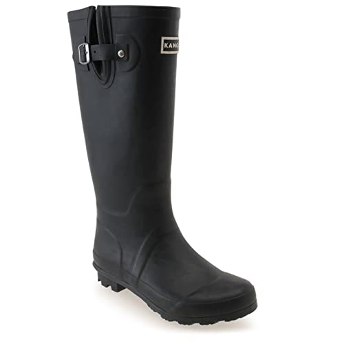 3252f07cc Kangol Womens Tall Wellies Ladies Wellington Boots Rubber Rain Design
