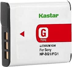 Kastar Lithium Ion Camera Battery for Sony G Type NPBG1 NP-BG1 Sony Cyber-Shot DSC-H3 DSC-H7 DSC-H9 DSC-H10 DSC-H20 DSC-H50 DSC-H55 DSC-H70 DSC-H90 DSC-W80 DSC-W85 DSC-W90 DSC-WX1 DSC-WX10 HDR-GW55