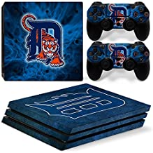 FriendlyTomato PS4 Pro Skin and DualShock 4 Skin - Baseball MLB - PlayStation 4 Pro Vinyl Sticker for Console and Controller Skin