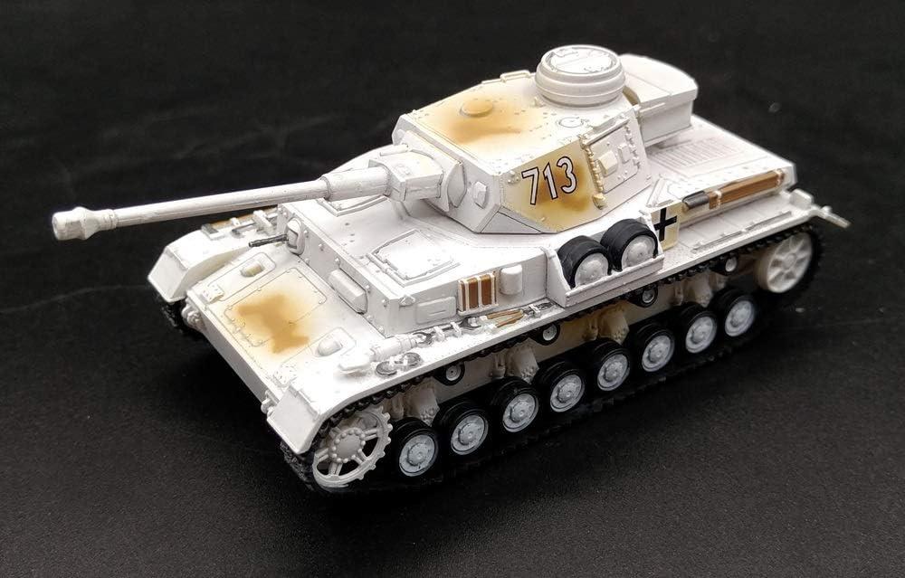 DMCMX Ejército alemán de la Segunda Guerra Mundial Modelo Vehículo caballo Panzerkampfwagen IV Tipo G Ejército 1:72 blindado militar estático Adornos simulación de productos de plástico cuerpo muy con