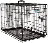 Precision Pet 'ProValu,' Double Door Dog Crate, Black, 30 Inch (7011273)