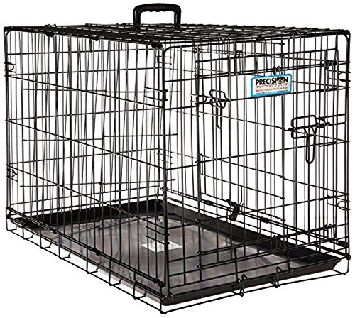 Precision Pet quotProValuquot Double Door Dog Crate Black 30 Inch 7011273