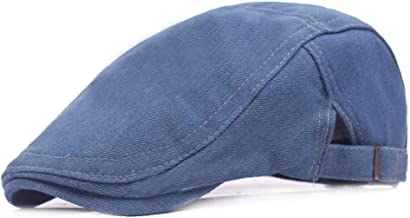 KFEK Denim Beret Men's Cap Monochrome Simple Forward Cap