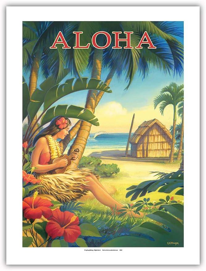 Pacifica Island Art Aloha - Ukulele Dancer with Hawaii Recommendation Max 61% OFF Hula