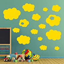 Smydp 15 Set Clouds Wall Stickers Vinyl Wall Removable Decals Nursery Kids Decal Art Children Playroom Room Removable Wall Paper