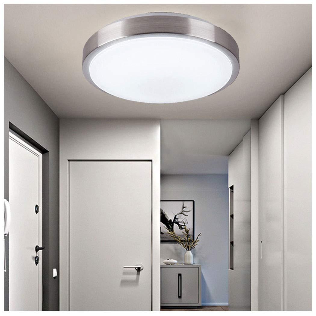 AXIANQI Luz De Techo LED Sensor De Luz Control De Voz Radar Inteligente Cuerpo Humano Sensor De Infrarrojos Luz Pasillo Escalera Lámpara De Techo 40 Cm (Color : Blanco, Tamaño : 40cm-220v):