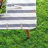 ZoomSky 4er Stabil Tischdeckenklammer, 430 Edelstahl Tischtuchklammern Tischtuch Klammer Outdoor Tischdecke Halter & Rock Clips für Garten, Picknicks Hochzeiten Party Küche und Restaurant - 2