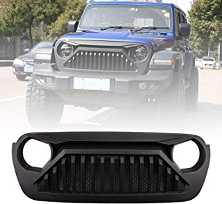 JEEP Front Matte Black Angry Bird Grille Grid Grill Overlay For 2018-2019 Jeep Wrangler JL