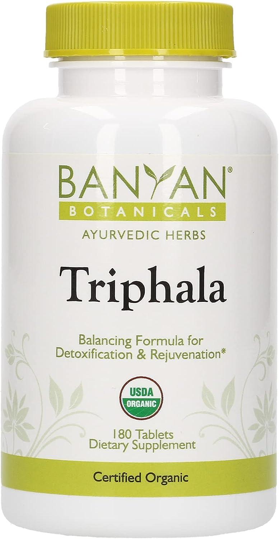 Banyan Botanicals Triphala Max 69% OFF Max 80% OFF Tablets Supplement - Organic