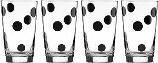 Kate Spade New York Deco Dot All In Good Taste Glasses Set of 4 Ice Tea