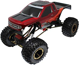Redcat Racing Everest-10 Electric Rock Crawler with Waterproof Electronics, 2.4Ghz Radio Control (1/10 Scale), Red/Black