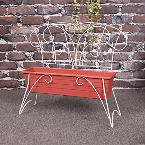 Fleur de fer Stand blanc chaise pot de fleurs de légumes balcon fleur pot nouveau décor à la maison