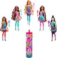 Barbie Color Reveal Doll with 7 Surprises: 4 Bags Contain Skirt, Shoes, Earrings & Brush; Water Reveals Confetti-Print;...
