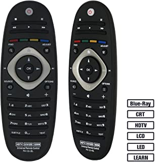 Grock mando a distancia universal VPH-12 para casi todos los Marca de Philips TV/Blue-Ray/LCD/LED/HDTV/Aprender, 32pfl4609 32PFL4909 40pfl4609 40pfl4909 43pfl4609 43pfl4909
