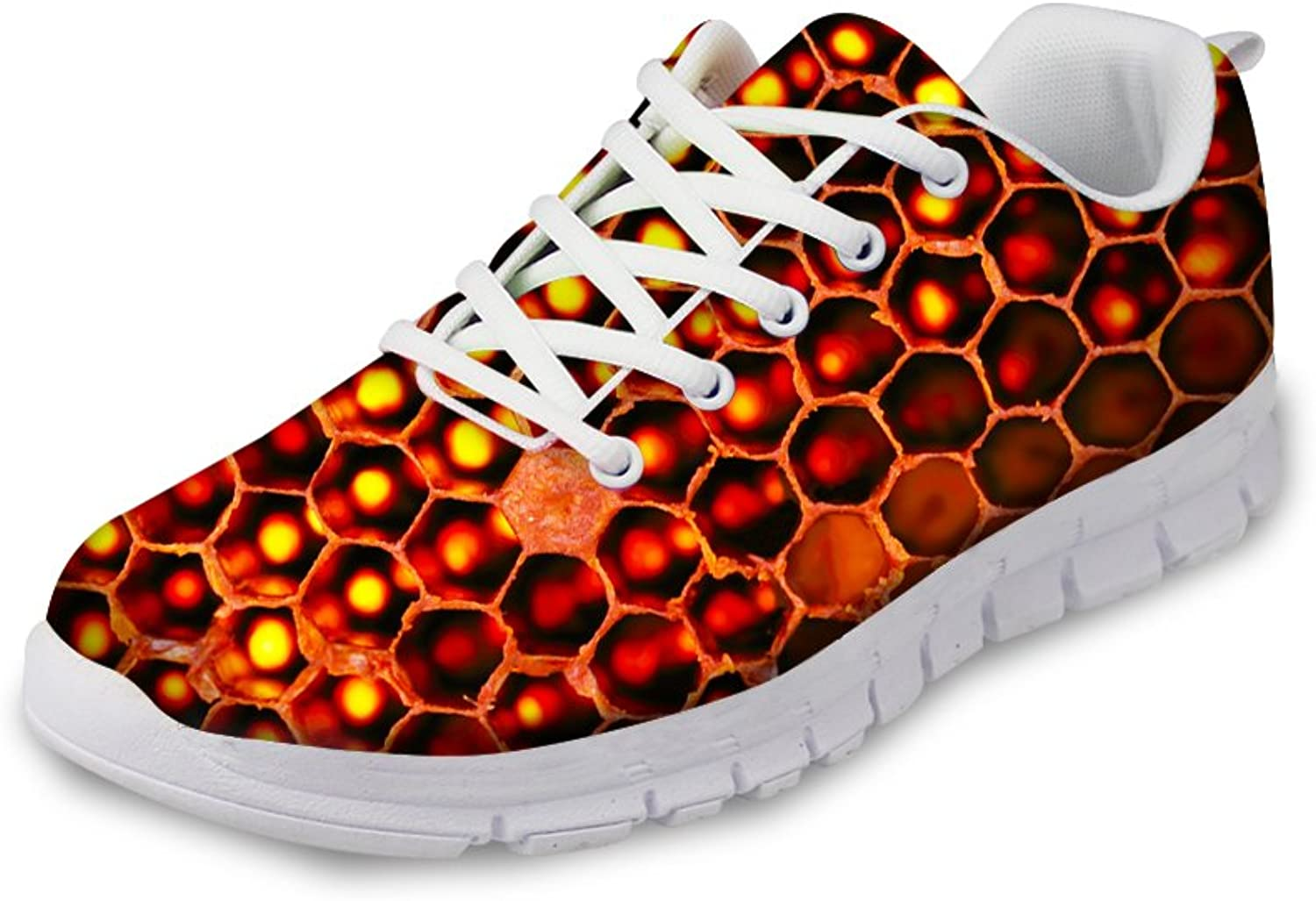 Creative Bee Print Women's Casual Sneakers Fashion Lightweight Running shoes