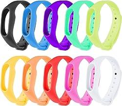 Zacro 10 Pieces Banda de Repuesto Correa de Recambio Brazalete Extensibles Coloridos con 10 Colores Diferentes para Xiaomi 2 Wireless Pulsera Inteligente