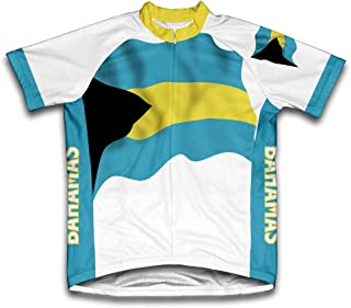 ScudoPro Bahamas Flag Short Sleeve Cycling Jersey for Men