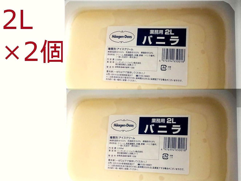 情熱任命ディプロマ【ハーゲンダッツアイスクリーム】業務用バニラ 2L×2個 (ミニカップ36個分)お徳用