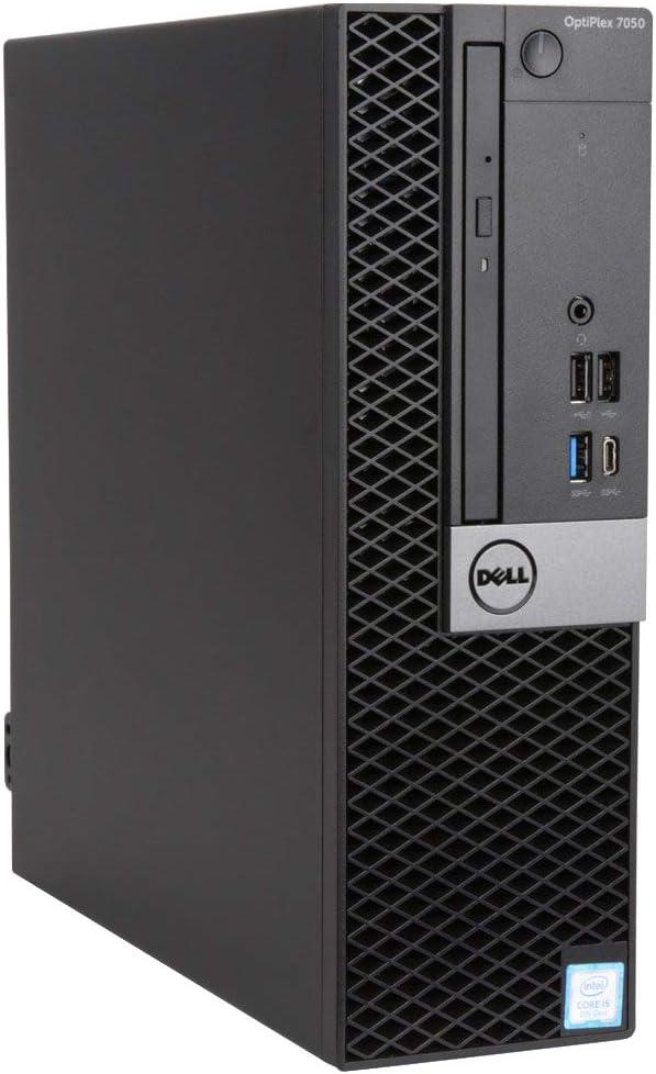 Dell Optiplex 7050 Small Form Desktop, Intel Quad Core i5 7500 3.4Ghz, 16GB DDR4, 256GB SSD Hard Drive, USB Type-C, HDMI, Windows 10 Pro (Renewed)