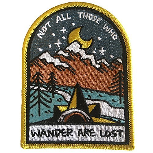 O'Houlihans - Not all Those Who Wander are Lost Iron on Patch