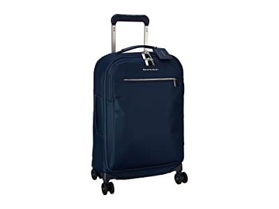 Briggs & Riley Tall Domestic Carry-On Spinner (Navy) Carry on Luggage