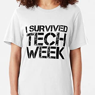 ZENFAON - I Survived Tech Week Slim Fit - Teacher Assistant T-Shirts - Fun Teacher T Shirts