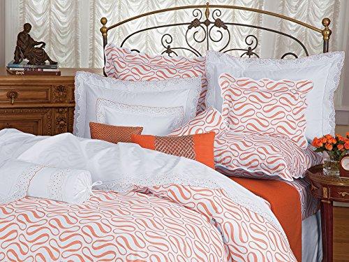 For Sale! Schweitzer Linen Summer Dots Shams, Orange (King, Each)