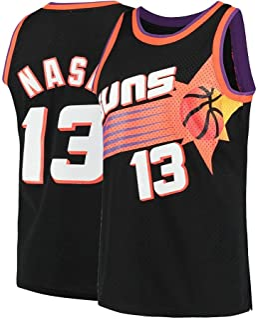 Saeniao Men's Nash Shirts Jerseys 13 Basketball Adult Sports Athletics Retro Steve Black