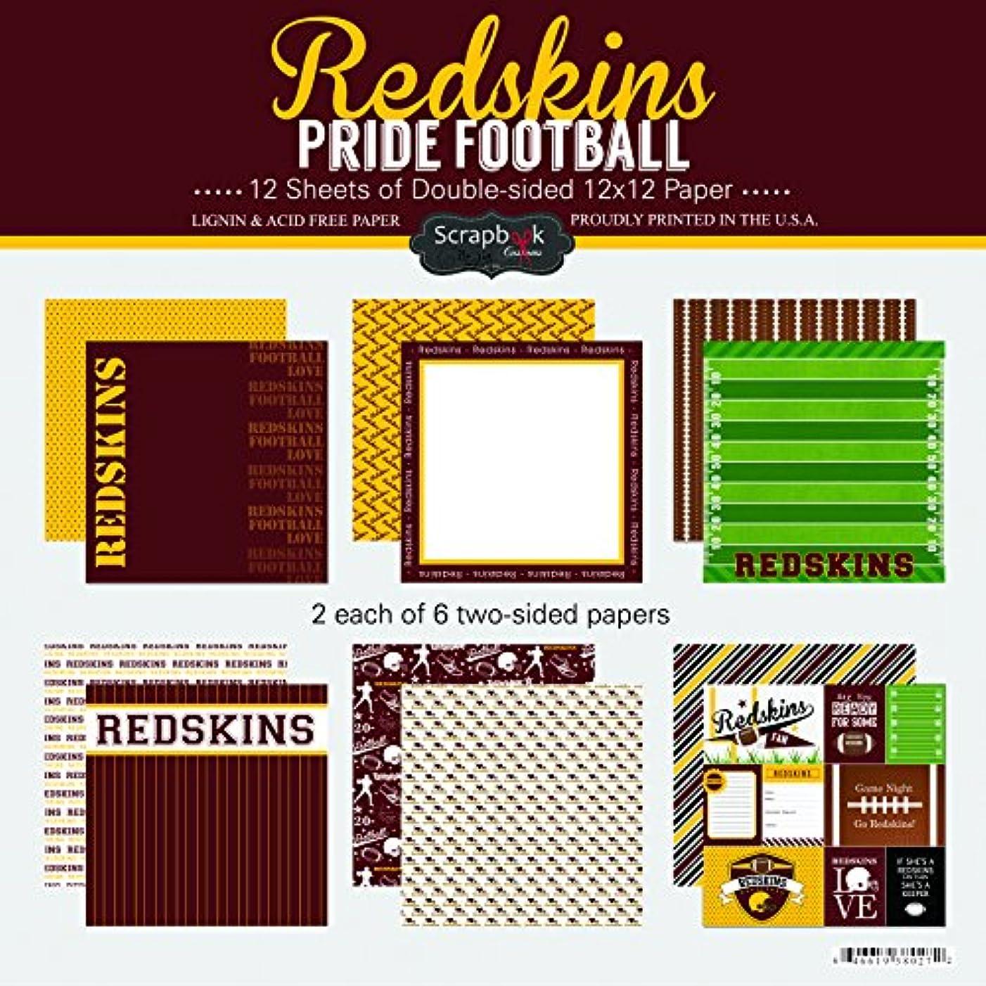 Scrapbook Customs Redskins Pride Football Scrapbook Kit
