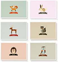 Best Paper Greetings Woodland Animals Design Blank Inside Thank You Card Bulk Box Set with Envelopes, 4 x 6 inches, Pack of 48