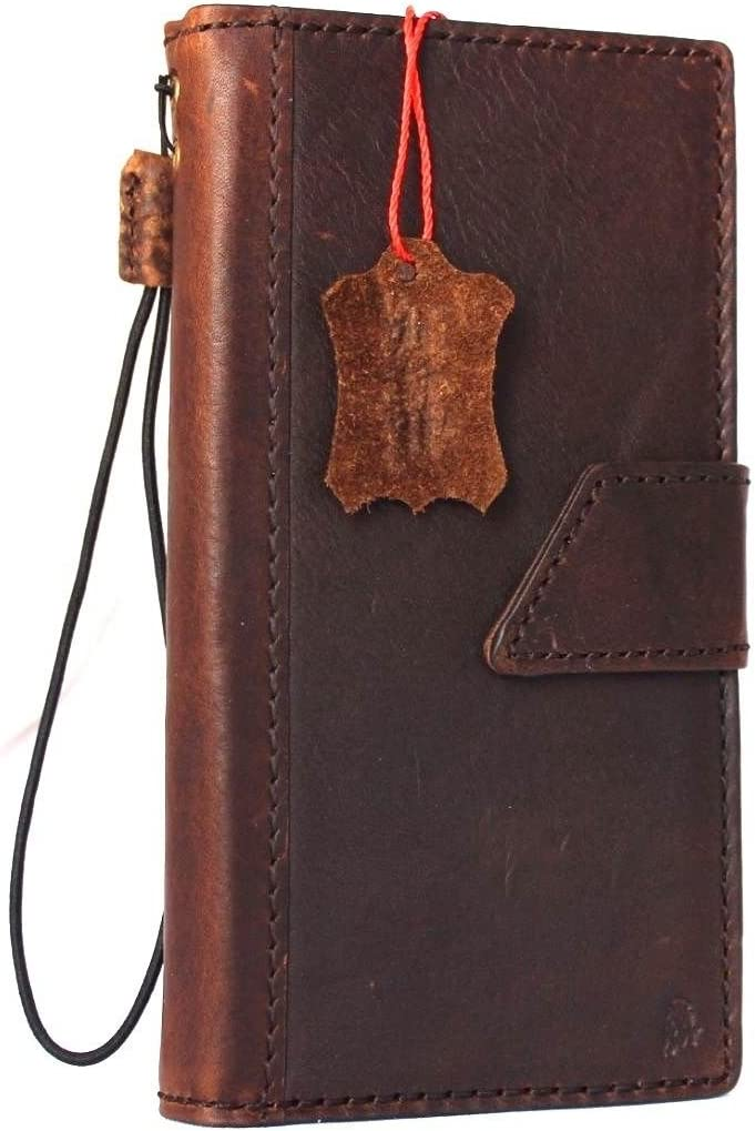 Genuine Real Clearance SALE! Limited time! New product type Natural Leather Case for Book 7 iPhone Wallet Magne