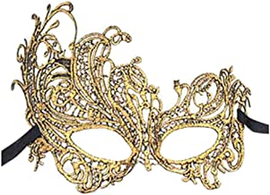 Rehoty White Black Lace Masquerade Masks for Party Prom Ball Mardi Gras Women