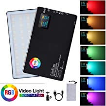 RGB Led Video Light CRI 96+ 360° Full Color 9 Lighting Effect 3200-7500K Adjustable 1-100% Stepless Dimming for Camera Photography YouTube Studio Vlog