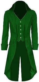 DGMJ Gothic Victorian Jackets Tailcoats Men Steampunk Vintage Renaissance Party Costume JK031