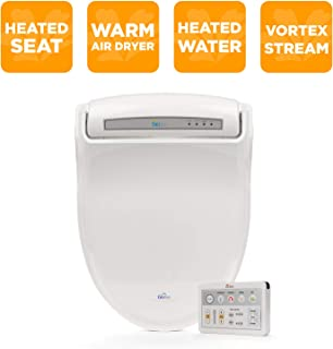 Bio Bidet Supreme BB-1000 Round White Bidet Toilet Seat Adjustable Warm Water, Self..