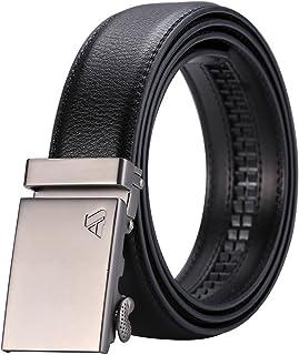 ailishabroy Men's Leather Ratchet Belt with Automatic Buckle Belts
