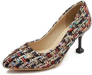 BalaMasa Womens Assorted Colors Travel Pumps-Shoes Urethane Pumps Shoes APL10600