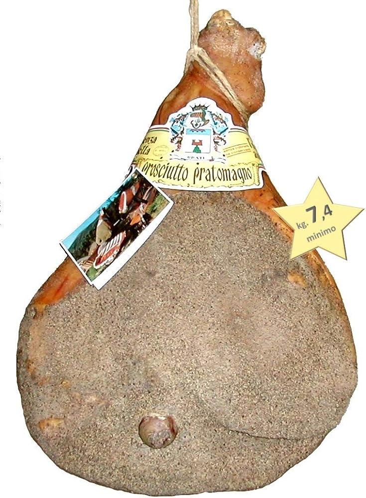 Prosciutto crudo extra stagionato 12 mesi 100% carne italiana con osso kg 8 5