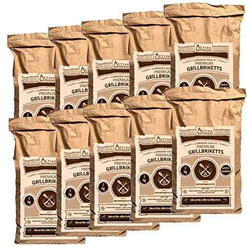 ACTIVA 'Premium Gastro Grillbriketts 30 kg (10 x 3...